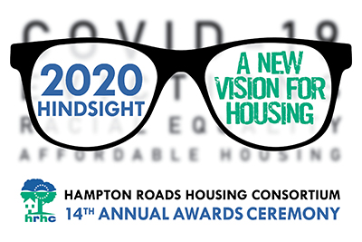 Illustration of a pair of glasses with 14th Annual Housing Awards Title