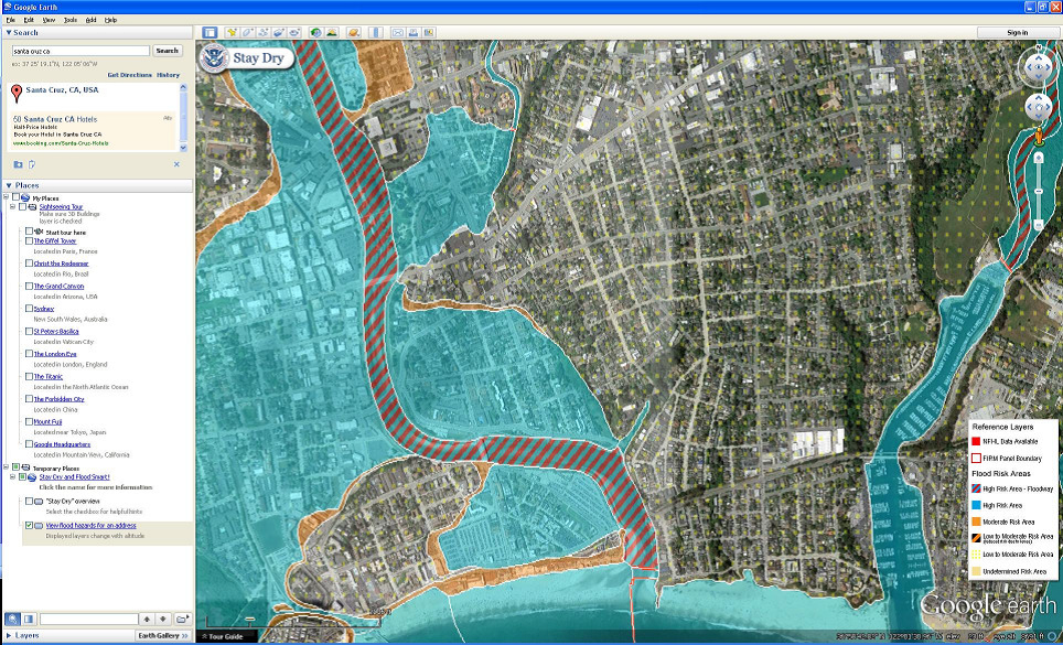 view fema flood hazard information using google earth emergency