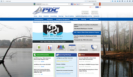Image of HRPDC Homepage