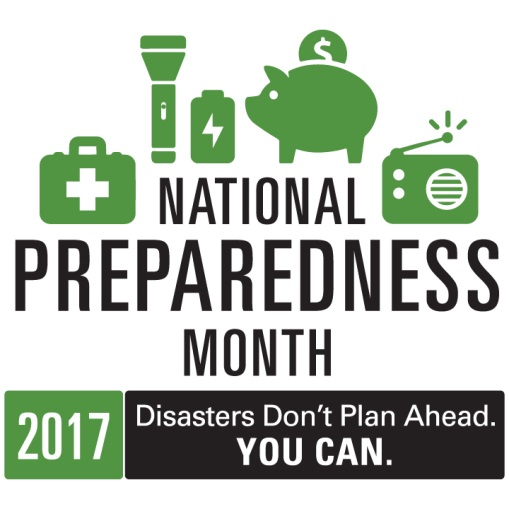 September is National Preparedness Month Graphic for 2017
