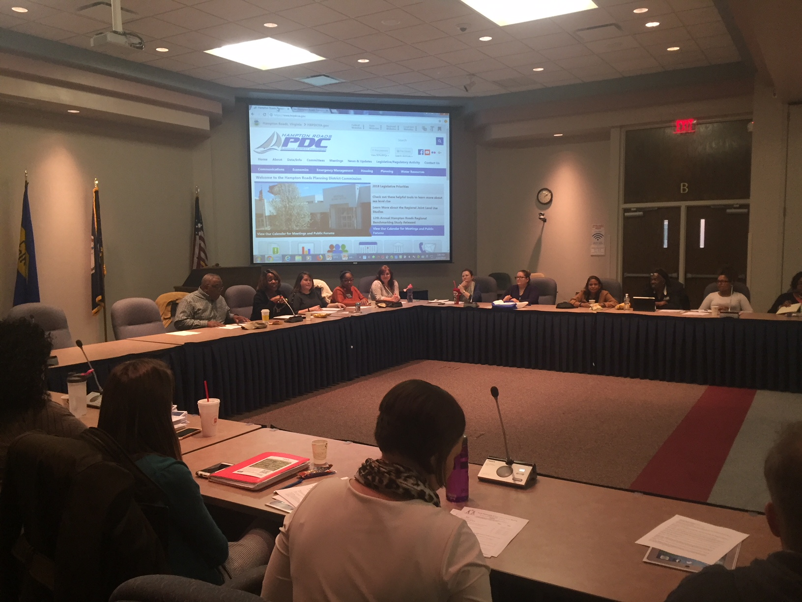 Youth Partnership of South Hampton Roads First Meeting of 2018 was held in the Regional Board Room at the HRPDC offices.