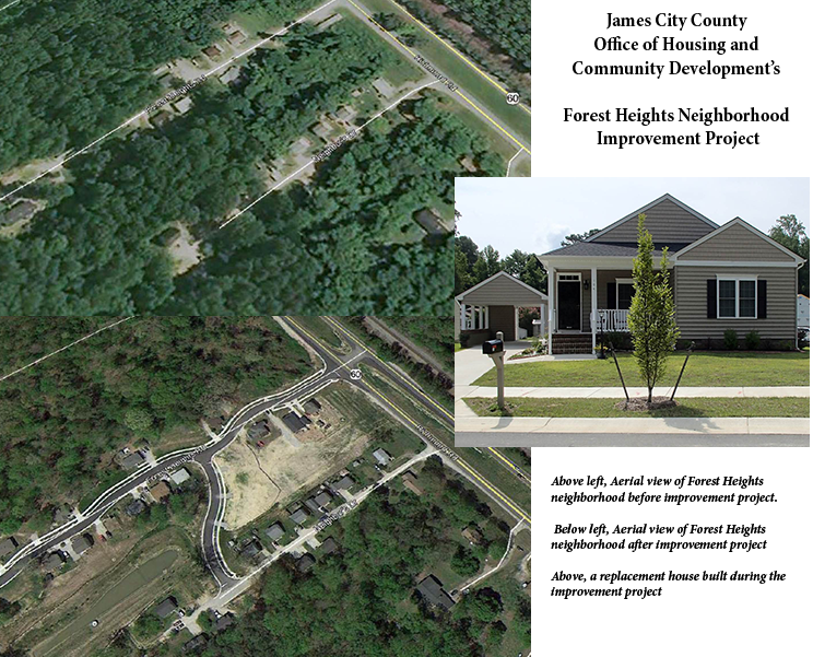 Before and After Photos of James City County's Forest Heights Project