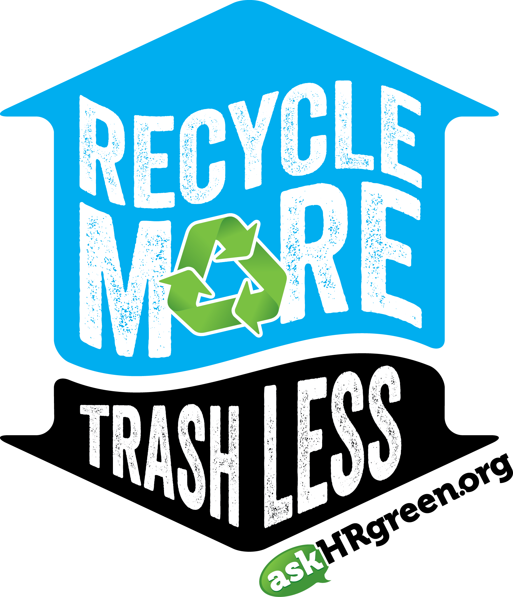 Recycle More Trash Less Logo