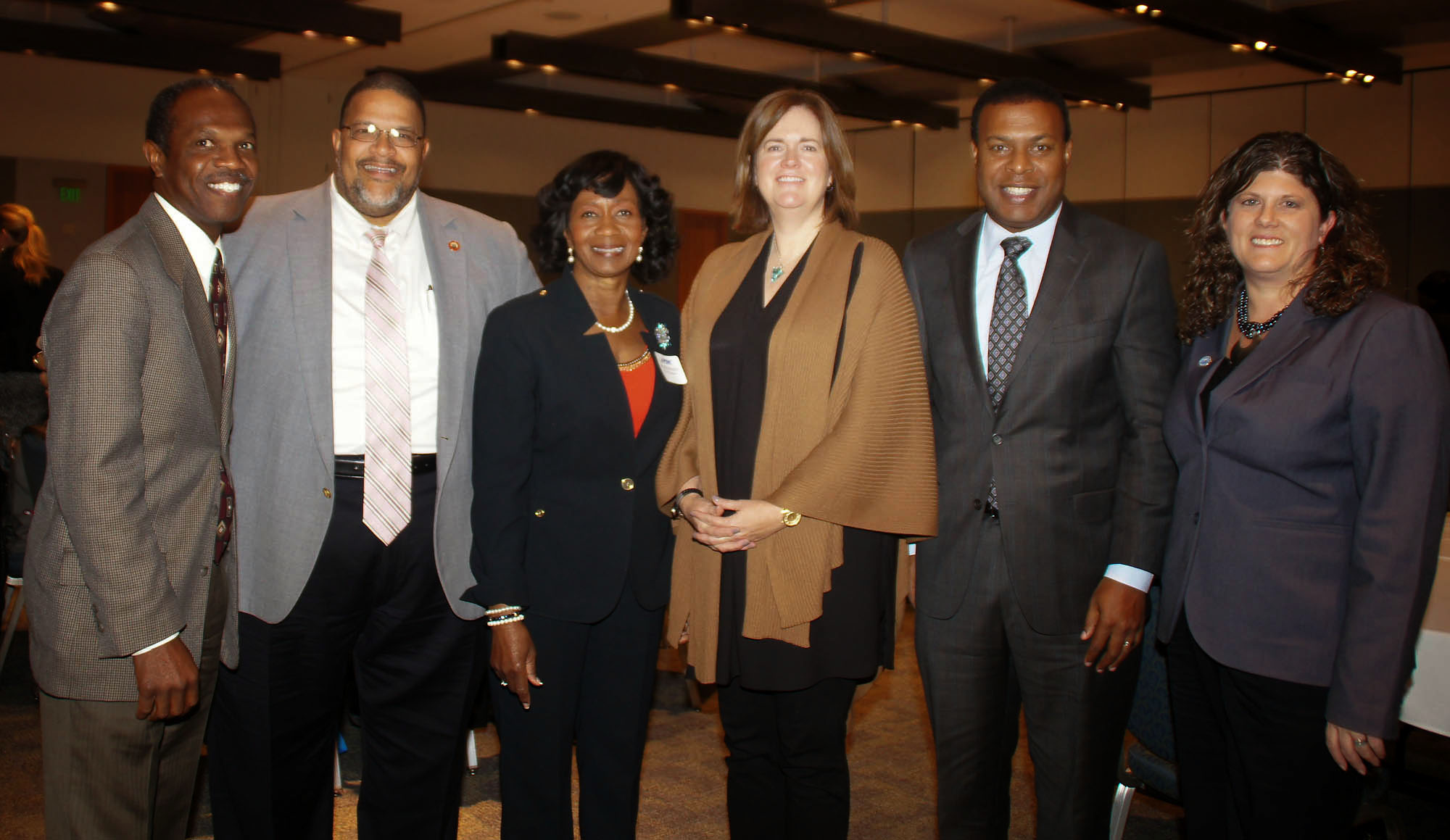 Mayors of Norfolk, Portsmouth and Hampton, and HRPDC Chair with Anti-Poverty Forum Speakers