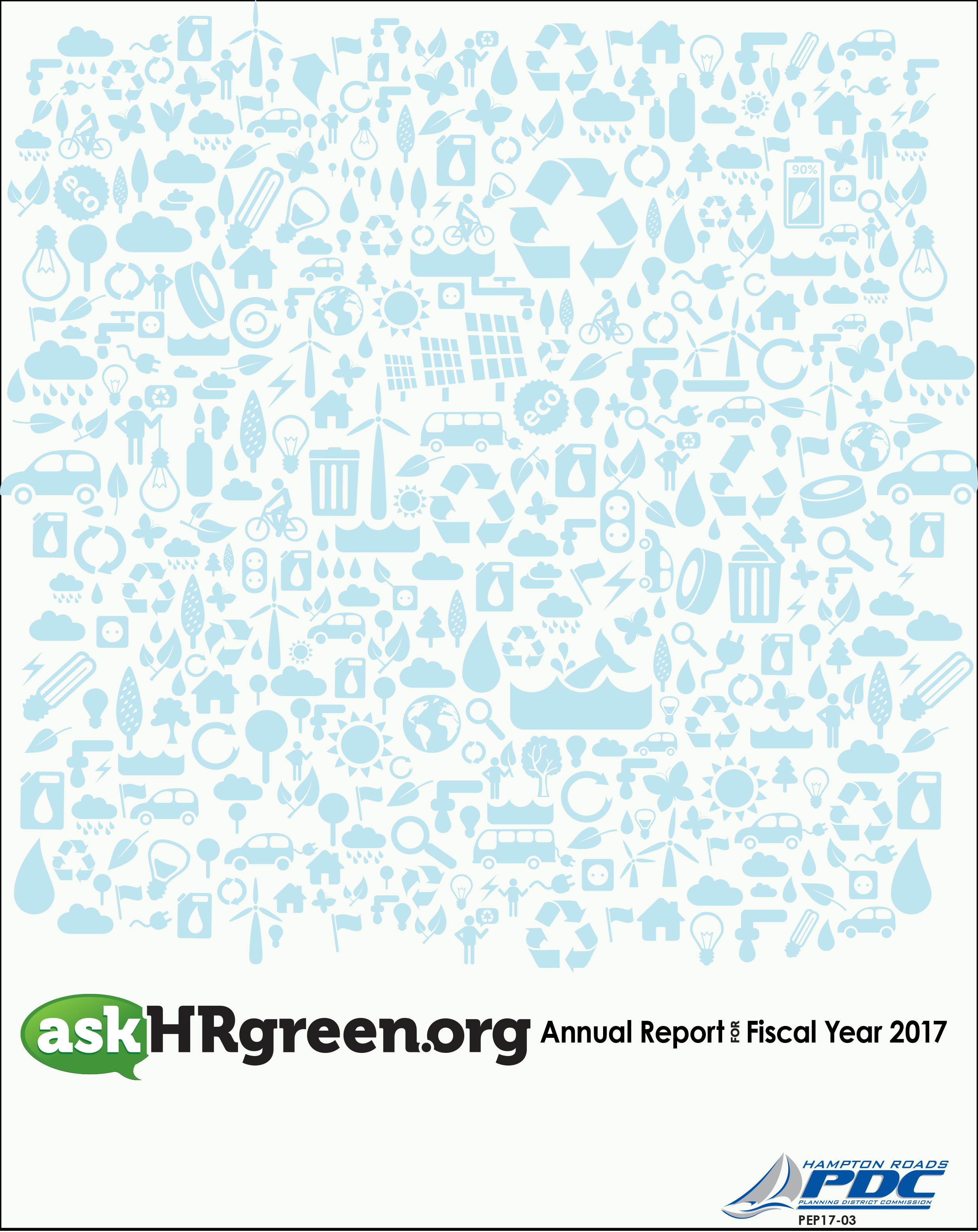 Cover of the askHRgreen.org FY 2016-2017 Annual Report.