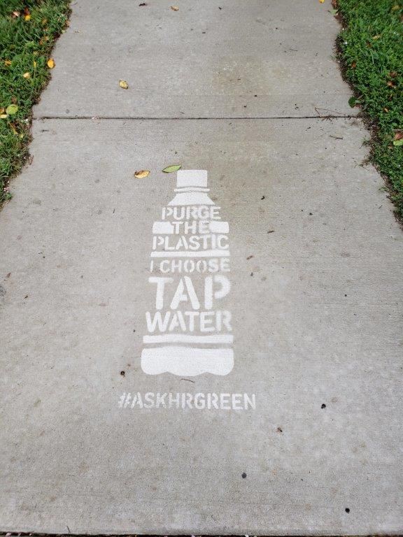 "Example of a Hidden Message - ""Purge the Plastic - I Choose Tap Water"""