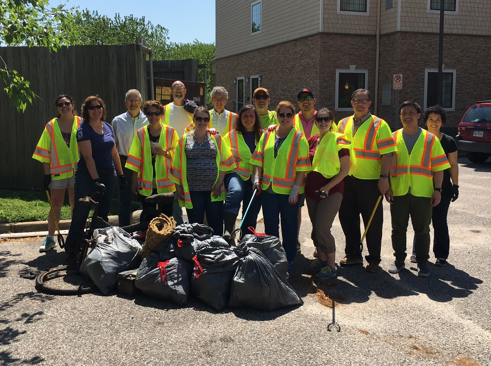 Clean up activities netted seven bags of garbage and one bike.
