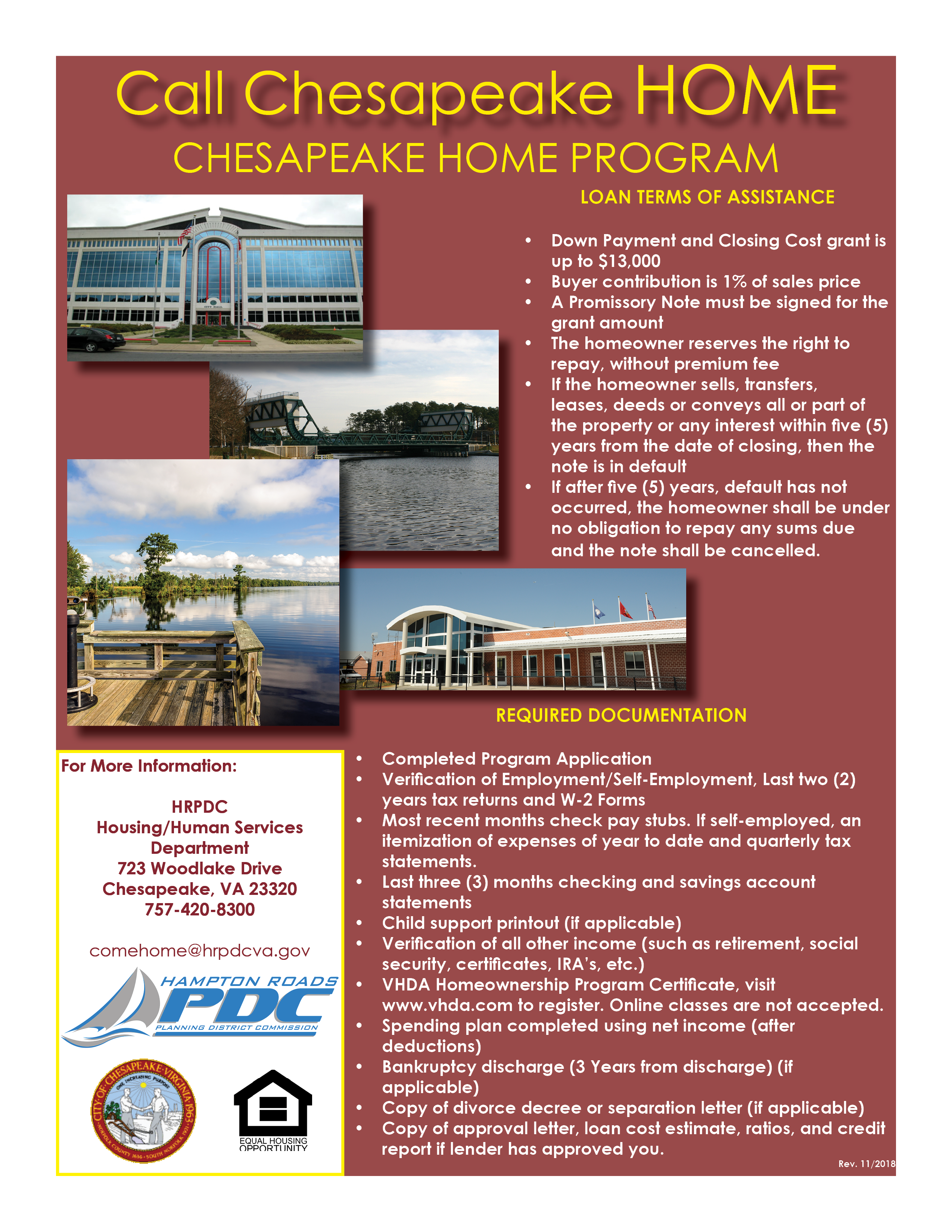 Image of Call Chesapeake Home Flyer