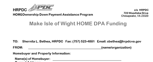 Image of the Make Isle of Wight HOME Program Reservation Form