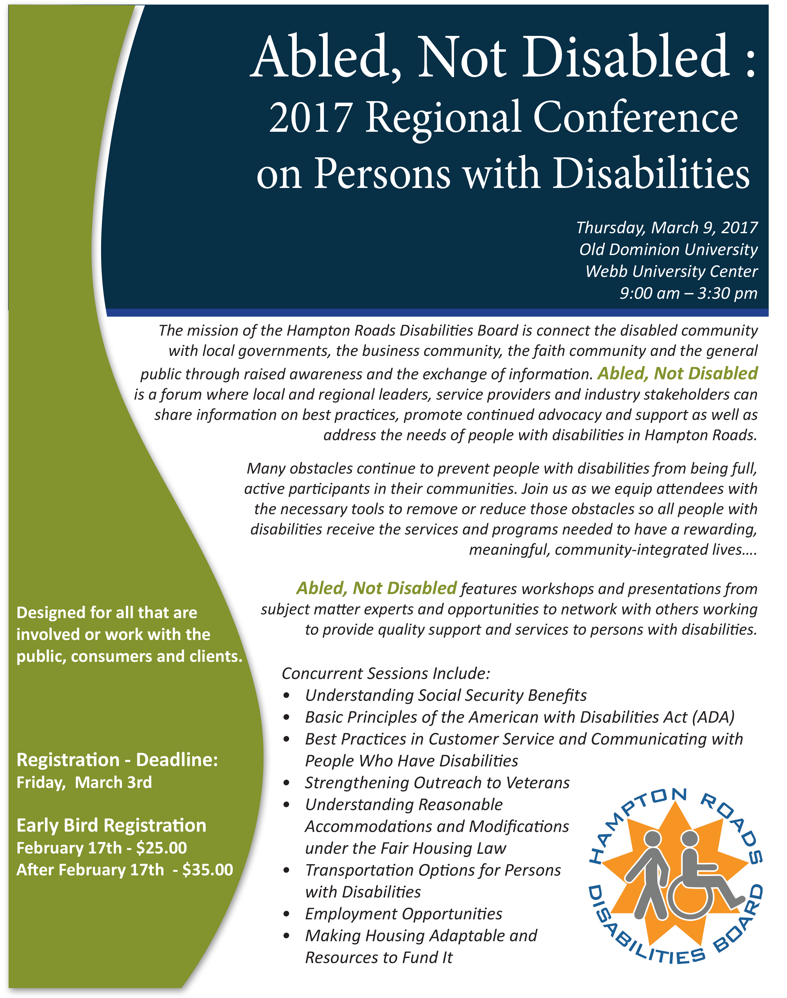 Able, Not Disabled Flyer Image