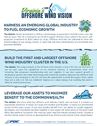 Image of the Front Page of Virginia's Offshore Wind Vision Handout
