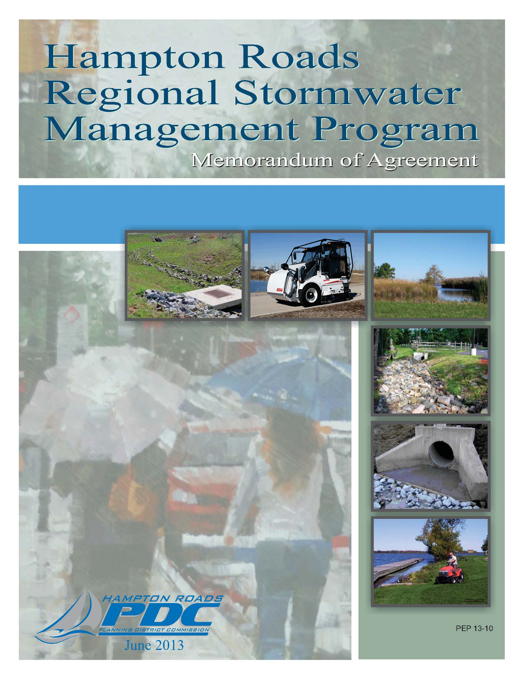 Cover Image 2013 Hampon Roads Regional Stormwater Management Program MOA