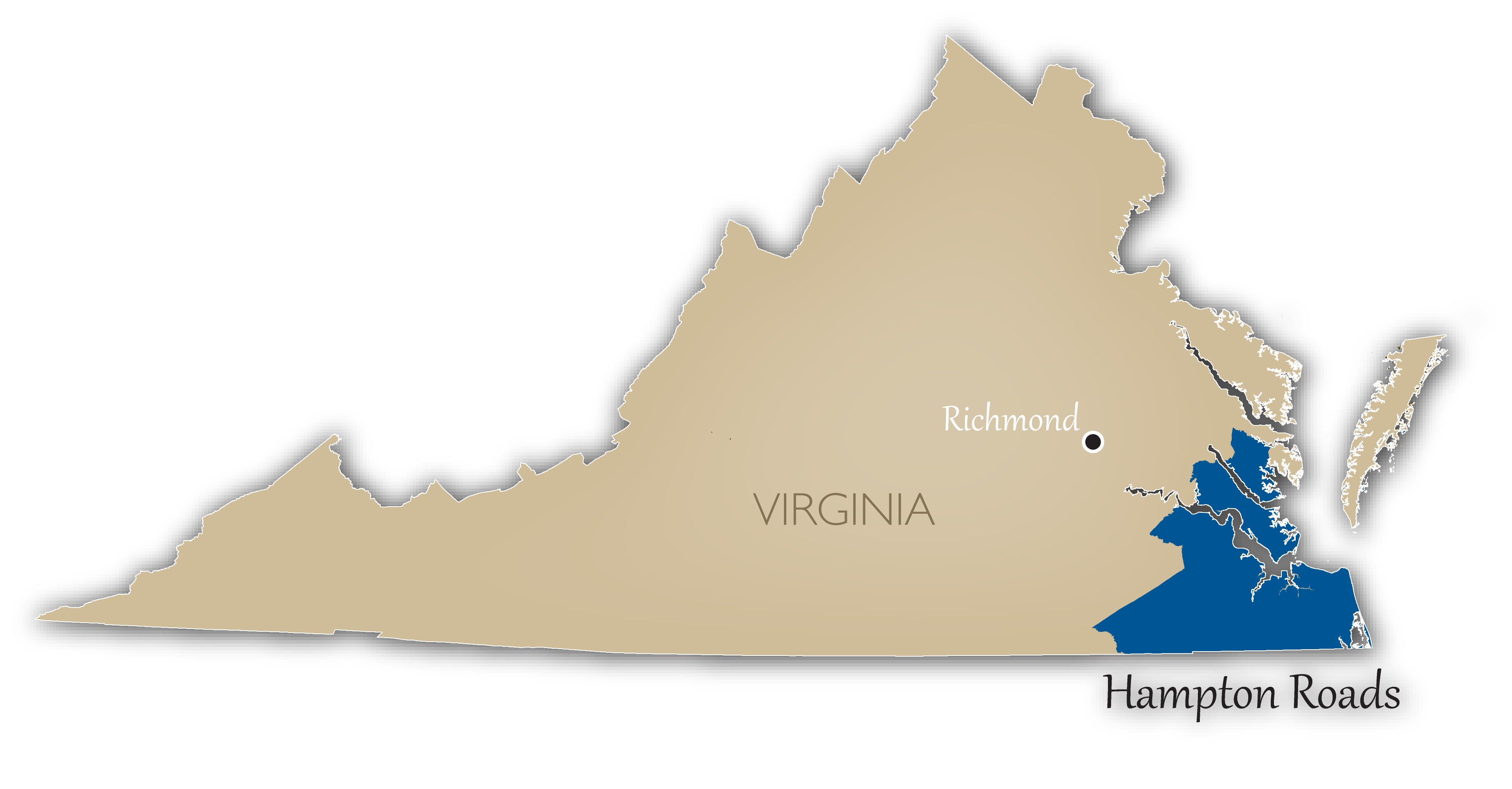 Hampton Roads Location Map