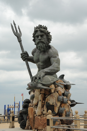 Neptune Statue at the Virginia Beach Oceanfront