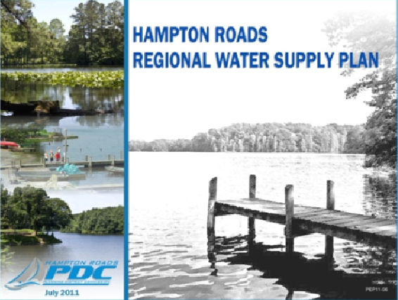 Cover image of the Hamtpon Roads Regional Water Supply Plan